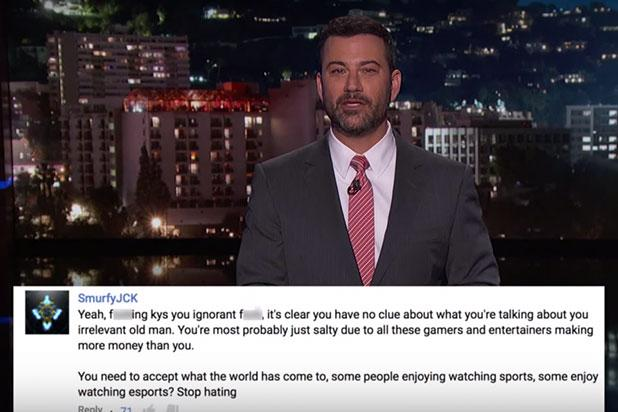 Jimmy Kimmel Responds to Viewers Outraged by Jokes About YouTube's Video Game Watching Service (Video)