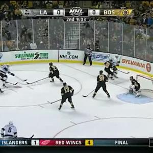 Tuukka Rask Save on Marian Gaborik (10:58/2nd)