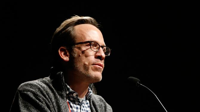 "Producer Michael Costigan speaks onstage at Fox Searchlight's ""The Stoker"" premiere during Sundance Film Festival on Sunday, Jan. 20, 2012 in Park City, Utah. (Photo by Todd Williamson /Invision for Fox Searchlight/AP Images)"