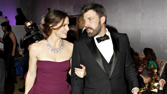 File photo of Jennifer Garner and Ben Affleck leaving the Governors Ball in Hollywood