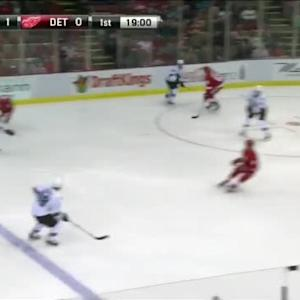 Jimmy Howard Save on Scott Hannan (01:02/1st)