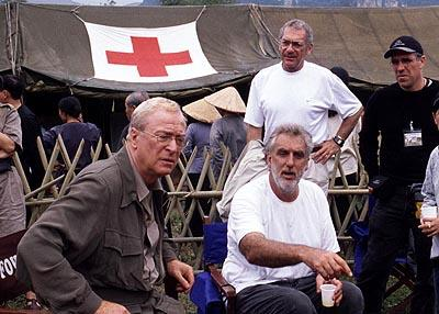 Michael Caine , Phillip Noyce , Sydney Pollack and William Horberg on the set of Miramax's The Quiet American