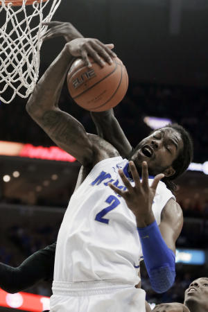No. 21 Memphis sweeps No. 7 Louisville 72-66