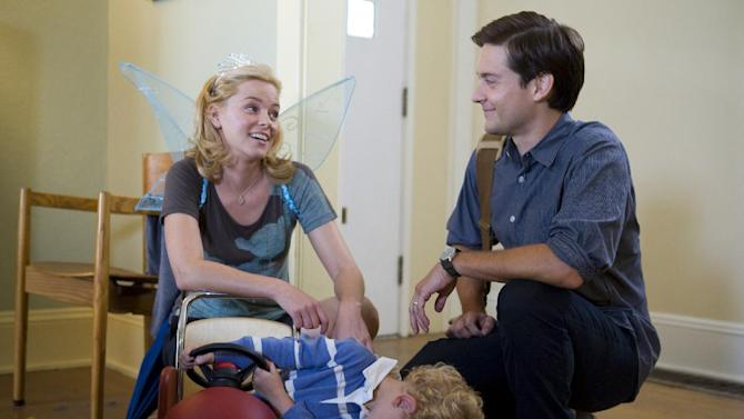 """This film image released by Radius/The Weinstein Company shows Elizabeth Banks, left, and Tobey Maguire in a scene from, """"The Details."""" (AP Photo/Radius/The Weinstein Company, Jan Cook)"""