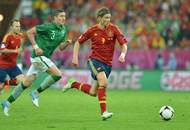 Spanish Forward Fernando Torres (R) Runs AFP/Getty Images