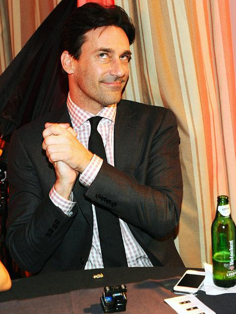 Jon Hamm Parties at Hollywood Domino Pre-Oscar Gala