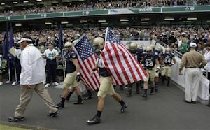 Notre Dame runs wild, sinks Navy 50-10 in Dublin