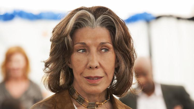 "This publicity photo released by Focus Features shows Lily Tomlin who stars as Susannah in a scene from the comedy/drama film, ""Admission,"" directed by Paul Weitz. The movie is a Focus Features release opening March 22, 2013.  (AP Photo/Focus Features, David Lee)"