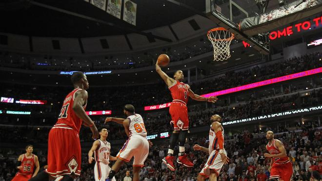 Derrick Rose #1 Of The Chicago Bulls Goes Getty Images