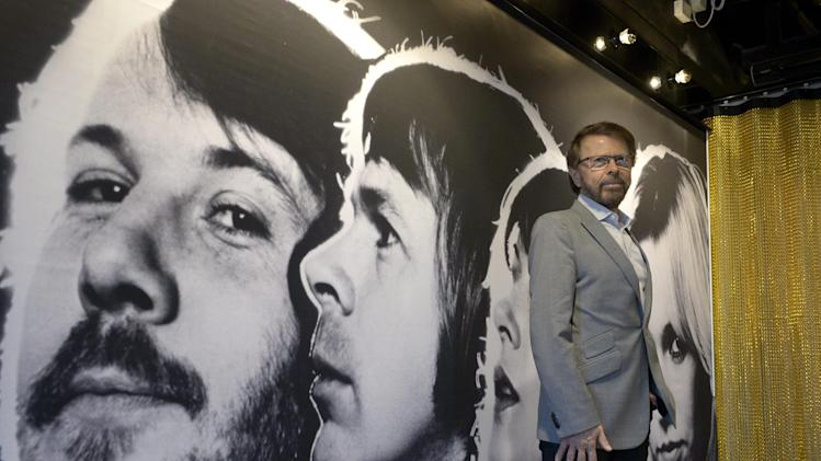 "Bjorn Ulvaeus, former member of the Swedish music group ABBA, poses for photographers during a press preview of 'ABBA The Museum' at the Swedish Music Hall of Fame in Stockholm, Sweden, Monday May 6, 2013. A museum opens in Stockholm on Tuesday to show off band paraphernalia, including the helicopter featured on the cover of their ""Arrival"" album, a star-shaped guitar and dozens of glitzy costumes the Swedish band wore at the height of its 1970s fame. (AP Photo/Scanpix Sweden/Janerik Henriksson) SWEDEN OUT"