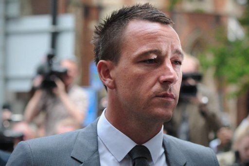 John Terry is shown at court in July over allegations of race abuse
