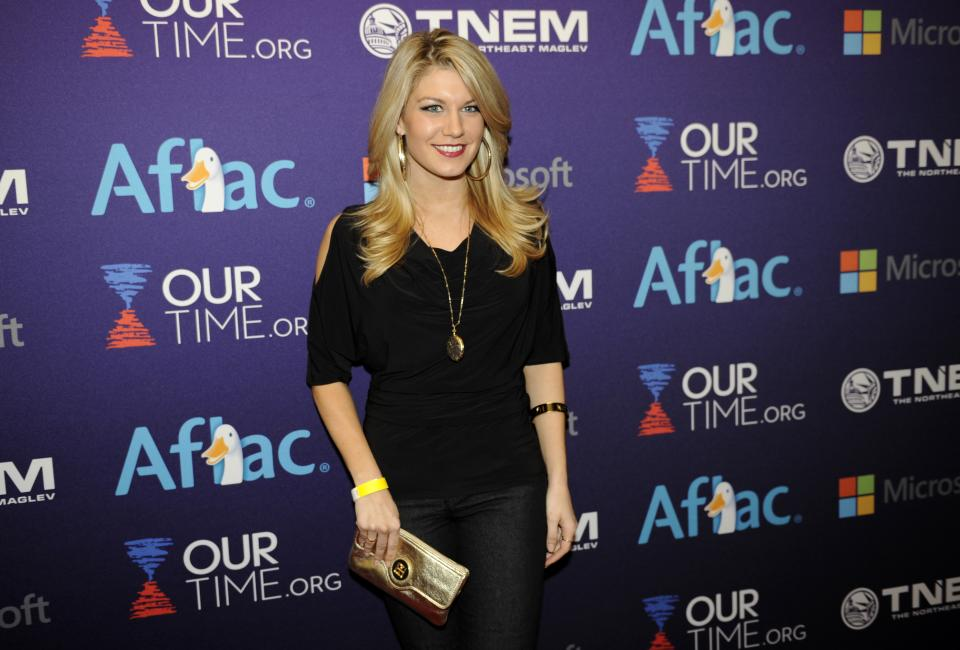 Miss America 2013 Mallory Hagan arrives at the OurTime.org Inaugural Youth Ball Generation Now Party on Saturday, Jan. 19, 2013, in Washington. (Photo by Nick Wass/Invision/AP)