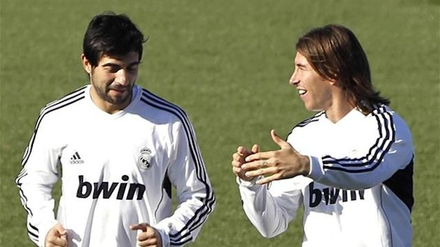 2011 Real Madrid Raul Albiol Sergio Ramos