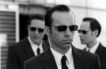 Hugo Weaving as Agent Smith in Warner Brothers' The Matrix