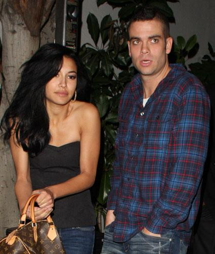 "The relationship between former ""Glee"" sweethearts Naya River, aka Santana, and Mark Salling,…"
