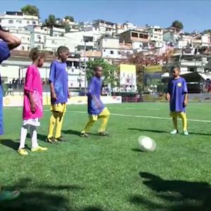 """Player-powered"" soccer field debuts in Brazil"