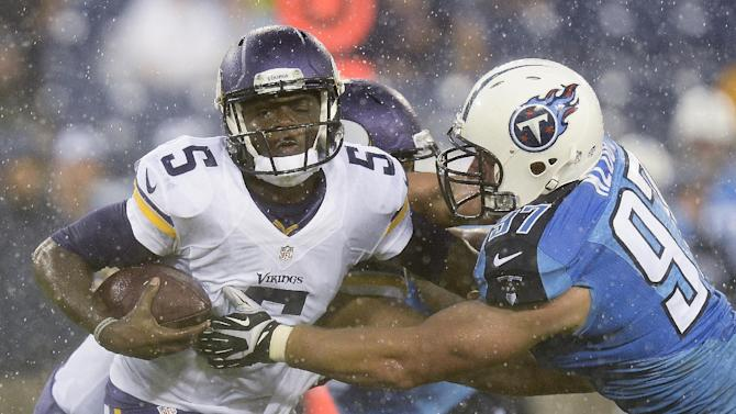 Bridgewater starts as Vikings beat Titans 19-3