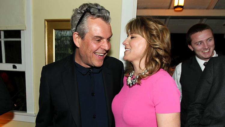"Danny Huston, left, and Lucy Lawless pose together at the after party for the premiere of ""Spartacus: War of the Damned"" on Tuesday, Jan. 22, 2013 in Los Angeles. ""Spartacus: War of the Damned"" premieres Friday, Jan. 25 at 9PM on STARZ. (Photo by Matt Sayles/Invision for STARZ/AP Images)"