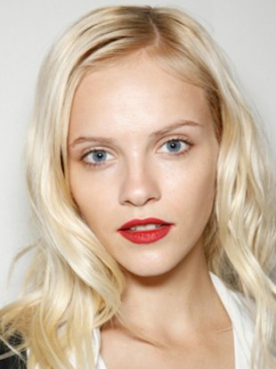 Follow these tips to get a gorgeous complexion like this model backstage at the Burberry Prorsum spring 2013 runway show.