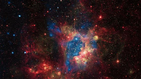 Gorgeous Cosmic 'Superbubble' Observed by X-Ray Space Telescope