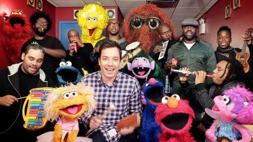 "Jimmy Fallon, Sesame Street & the Roots Sing ""Sesame Street"" Theme (with Classroom Instruments)"