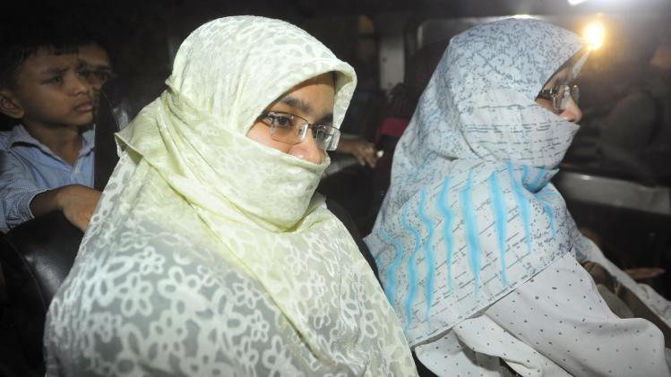 Relatives of Islamist leader Abdul Quader Mollah leave Dhaka Central Jail in Dhaka