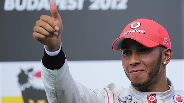 Lewis Hamilton Ungarn 2012