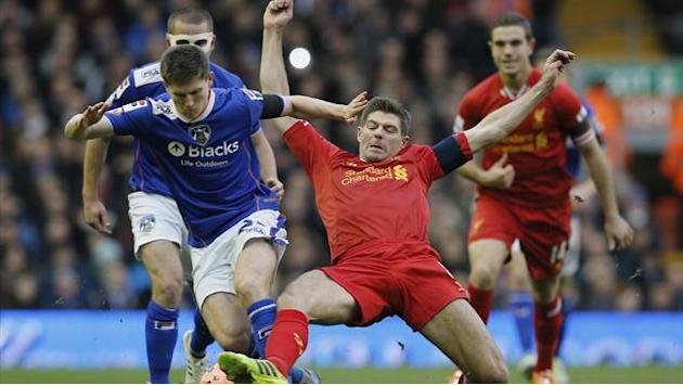 FA Cup - Aspas scores and Gerrard returns as Liverpool down Oldham