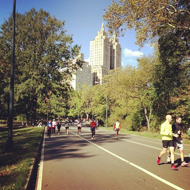 "Endless amount of #unofficial #nycmarathon runners. At all different points of the ""race."""