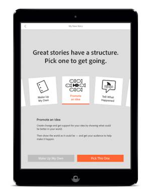 Adobe Delivers New Storytelling App for iPad