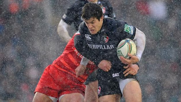 Leicester Tigers' Anthony Allen in action against Toulouse