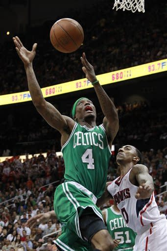 Pierce leads Rondo-less Celtics past Hawks, 87-80