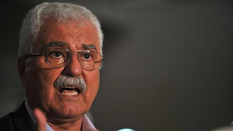 Syrian National Council (SNC) president George Sabra addresses a press conference in Istanbul, on May 30, 2013