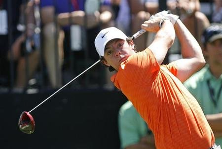 Northern Ireland's Rory McIlroy tees off on the first hole during second round play in the 2013 WGC-Cadillac Championship PGA golf tournament in Doral