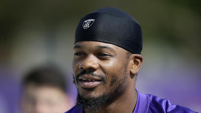 Vikings wide receiver Jerome Simpson received a three-game suspension for a violation of the NFL's substance abuse policy. (AP Photo)