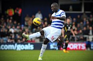 Queens Park Rangers' newly signed defender Christopher Samba plays during the English Premier League football match against Norwich City in London on February 2, 2013. Adel Taarabt saw a second-half penalty saved as Queens Park Rangers were held to a 0-0 draw by Norwich that left them rooted to the foot of the Premier League table