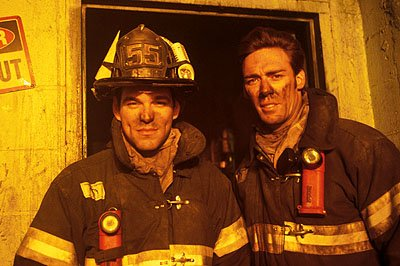 Eddie Cibrian as Doherty and Jason Sehorn as Knowlins on NBC's Third Watch Third Watch