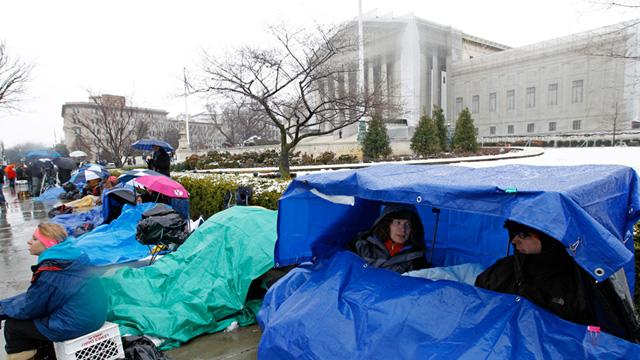 Sleep-Deprived and Shivering at the Supreme Court
