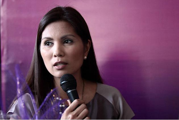 Patricia Hizon, panelist at Yahoo! SHE press con