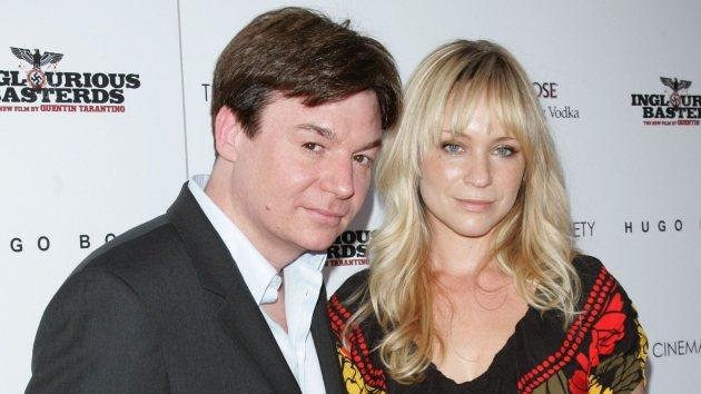 Mike Myers and Kelly Tisdale attend The Cinema Society & Hugo Boss screening of 'Inglourious Basterds' at SVA Theater on August 17, 2009 in New York City -- Getty Images