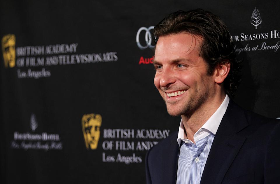 Actor Bradley Cooper arrives at the BAFTA Awards Season Tea Party at The Four Seasons Hotel on Saturday, Jan. 12, 2013, in Los Angeles. (Photo by Matt Sayles/Invision/AP)