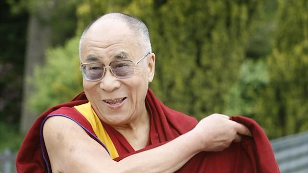 England have visited the residence of the Dalai Lama, pictured
