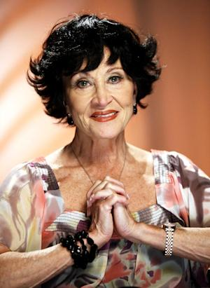 FILE - In this Aug. 19, 2009 file photo, Chita Rivera is shown during an interview in New York. Rivera will celebrate her 80th birthday with a one-night-only Broadway concert to benefit Broadway Cares/Equity Fights AIDS. The Oct. 7 show at the August Wilson Theatre will feature Rivera backed by a full orchestra singing songs from her hits and telling stories. It is written by Terrence McNally, directed by Graciela Daniele and guests will include Tommy Tune and Ben Vereen. (AP Photo/Richard Drew, file)