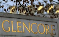 The logo of commodities trader Glencore is pictured in front of the company&#39;s headquarters in the Swiss town of Baar November 20, 2012. REUTERS/Arnd Wiegmann