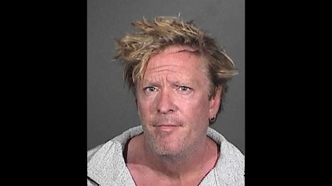 This image provided by the Los Angeles Coundy Sherrif's Department shows a booking photo of Michael Madsen. A Los Angeles County sheriff's statement says Madsen was arrested Friday afternoon March 7, 2012 at his home in Malibu, after deputies were called about a family disturbance. (AP Photo/Los Angeles County Sheriff's Department)