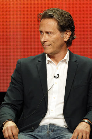 "This image released by ABC Family shows Steven Weber participating in the ""Chasing Life"" session of the TCA Summer Press Tour 2014 in Beverly Hills, Calif., on Tuesday, July 15, 2014. (AP Photo/ABC Family, Rick Rowell)"