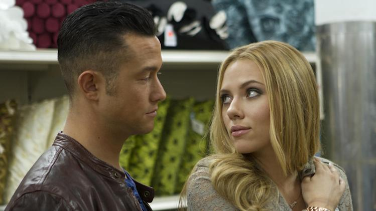"This film image released by Relativity Media shows Joseph Gordon-Levitt, left, and Scarlett Johansson in a scene from ""Don Jon"". (AP Photo/Relativity Media, Daniel McFadden)"