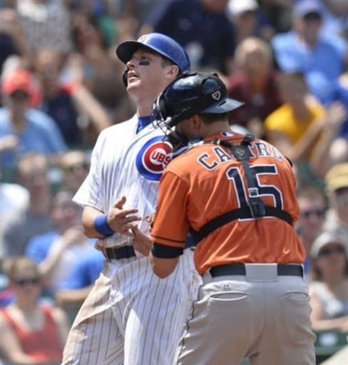 Sweeney has 6 RBIs in Cubs' 14-6 win over Astros