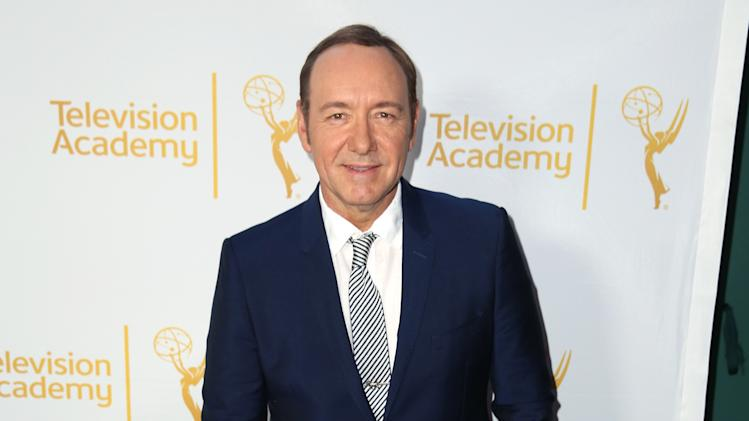 IMAGE DISTRIBUTED FOR THE TELEVISION ACADEMY - Kevin Spacey arrives at the Television Academy's 66th Emmy Awards Performers Peer Group Celebration at the Montage Beverly Hills on Monday, July 28, 2014, in Beverly Hills, Calif. (Photo by Matt Sayles/Invision for the Television Academy/AP Images)