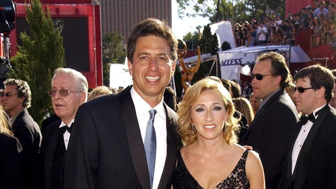 Ray Romano and wife at The 54th Annual Primetime Emmy Awards.